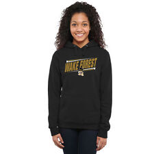 Wake Forest Demon Deacons Women's Black Double Bar Pullover Hoodie