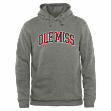 Ole Miss Rebels Ash Arch Name Pullover Hoodie