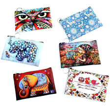 Cute Animal Small Womens Zip Faux Leather Coin Bag Case Purse Clutch Wallet