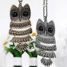 2016 Retro  New Silver Long Chain Owl Pendant Vintage  Hot bronze  Necklace