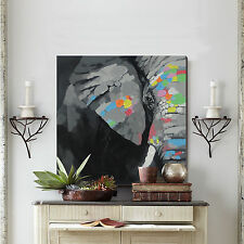 Frame Elephant Oil Painting Handpainted On Canvas Modern Wall Art For Home Decor