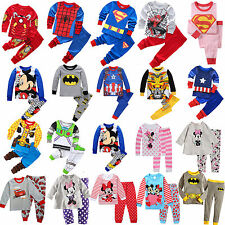 Cartoon Sleepwear Baby Kids Boys/Girls Cotton Nightwear Pj's Pajamas Pyjamas Set