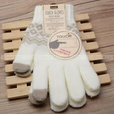 Touch Screen Gloves Women Girl Stretch Knit Mittens Winter Warm Gloves NEW