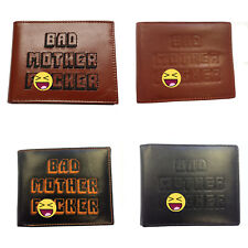 Bad Mother F*cker Leather Wallets (Choose Style) Mens Mofo Embroidered Embossed