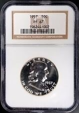 1957 Proof Franklin Silver Half Dollar certified PF 67 by NGC!