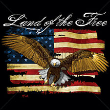 Land Of The Free USA Eagle United States Of America Freedom T-Shirt Tee