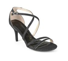 BAMBOO - Women's Black Sparkle Classic Strappy Pumps Heels Shoes