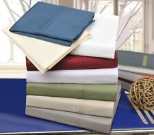 Soft Percale Cotton Sheet Set With Deep Pocket, 300-Thread Count, 8 Colors