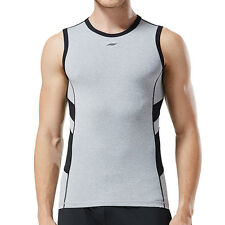 MENS Sleeveless Bodybuilding Fitness T shirt Gym Compression Shark Top Tights