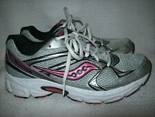 Saucony Grid Cohesion Women's Shoes Size 9 Silver and Pink