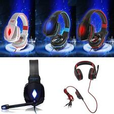New KOTION Stereo Gaming Headphone Headset w/ Mic Volume Control for PC Game