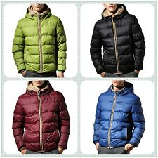 M-3XL Plus Size Men's Jacket Adult Casual Hoodies Warm Down Cotton-Padded Coat