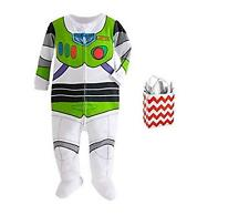 Disney Toy Story Baby Boys' Buzz Lightyear Footie Stretchie & Bag 2 Piece Gift