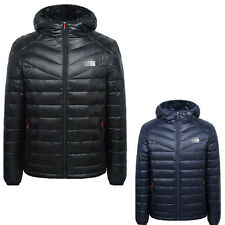 Men's Feather Down Jacket Travel Portable Thin Sports Coat Hooded Outerwear
