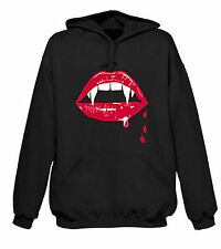 Fangs Hoody - Vampire Rocky Horror Movies Goth T-Shirt Vampires Twilight - S-XXL