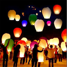 20 Pcs Sky Lanterns Chinese Paper Sky Fire Candle Wish Wedding Fly Party Lamp