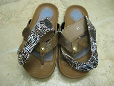 WOMENS Tony Little Cheeks® Healthy Lifestyle Sandal Brand NEW Color NATURAL SZ 8