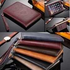Genuine Leather Smart Case Stand Cover for Apple ipad air 2/ipad 3 4/mini 3 Pro