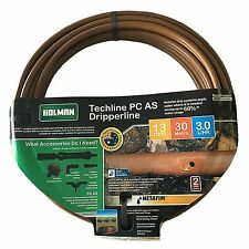 Holman TECHLINE PC IRRIGATION DRIP TUBE Saves Water*AUS Brand- 13mm x 30 Or 50m