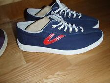Tretorn Navy & Red Eco Ortholite Canvas Sneaker Tennis Shoe sz 7.5 and 8 mens