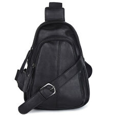 Korean Unisex PU Leather Travel Cross Body Messenger Shoulder Sling Chest Bag