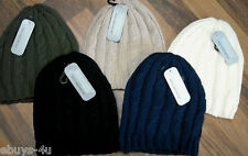 ADULT LADIES/MENS/OLDER GIRLS/BOYS BEANIE STYLE HAT * CABLE KNIT * 5 COLOURS *