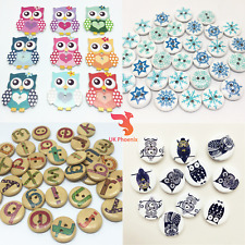 Various Buttons Christmas Rendeer Owl Snowflake Angry Birds Letters Elephants