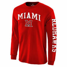 Miami University RedHawks Red Distressed Arch Over Logo Long Sleeve Hit T-Shirt