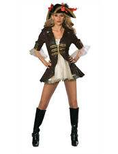 Ladies Sexy Caribbean Pirate Wench Womens Buccaneer Fancy Dress Costume Outfit