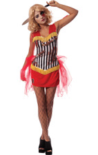 Ladies Halloween Knife Throwers Assistant Circus Fancy Dress Costume