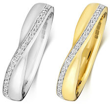Platinum, 18ct/9ct Carat White/Yellow Gold Diamond Wedding Band/Ring 0.09 Carat