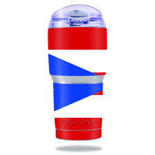 Skin Decal Wrap for Pelican Tumbler 22 oz cover sticker Puerto Rican Flag