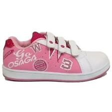 GIRLS EVERYDAY PINK TRAINERS SKATER KIDS VELCRO PUMPS SHOES SIZE UK 10-2