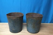 OLD BLUE TIN Sap Bucket BUCKETS FLOWERS DECOR PRETTY!
