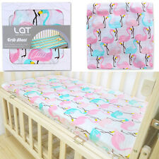Baby Crib Sheet Cover 100% Cotton Infant Mattress Cover Newborn Bedding Sheet