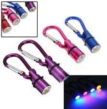 Pet Dog Cat Puppy LED Flashing Collar Pendant Tag Safety Night Light Key Chain