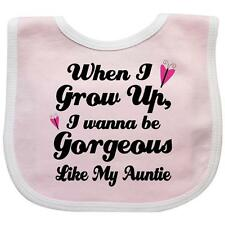 Inktastic Gorgeous Like My Auntie Baby Bib Aunt Gift From Girls Cute Funny Kids