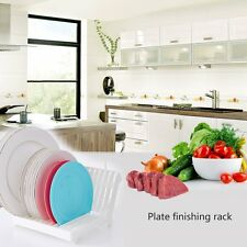 Foldable Dish Plate Drying Rack Organizer Drainer ABS Plastic Storage Holder D#