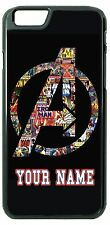 Avengers Iron Man Case Cover with NAME iPhone 6 Samsung 6 5 LG HTC Moto iPod