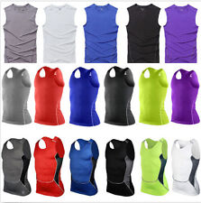 Men Sports Compression Base Layer Under Wear Sleeveless Tank Top Vest Shirts Y23