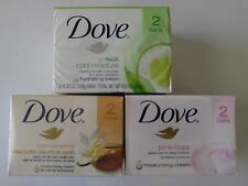 Dove - 2 Pack Bar Soaps(Choose your Scent)4.25oz cool moist & 4.0 oz shea & pink