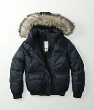 Womens Abercrombie & Fitch Fleece Quilted Hoodie Puffer Jacket Size M, L, XL,