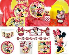 Minnie Mouse Cafe Birthday Party Supplies Tableware Plates Napkins Cups Loot Bag