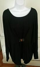 Women's Black Top Size 2X New With Tags