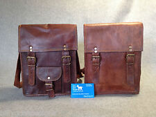 "Handmade Goat Leather 11"" iPad MS/P Satchel Messenger Bag Billy Goat Designs"
