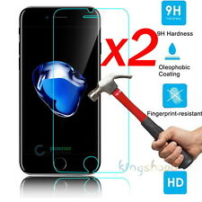 2x 9H+ Full Cover Tempered Glass Screen Protector For Apple iPhone 7 6 5 4 3Gs