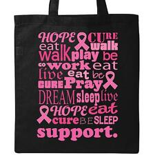 Inktastic Breast Cancer Support Awareness Walk Gift Tote Bag Ribbon Pink Event