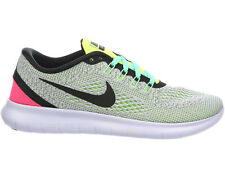 WOMENS NIKE FREE RN RUN RUNNING SHOES TRAINERS WHITE / BLACK / VOLT / PINK BLAST