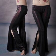 New Arrival Women Tribal Belly Dance Costumes Pants Trousers Side Slit M L