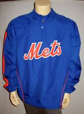MLB New York METS Cooperstown Collection Majestic Pullover Jacket Mens' Sizes